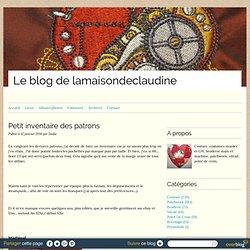 Petit inventaire des patrons - Le blog de lamaisondeclaudine.over-blog.com