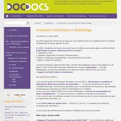 Inventaire récolement et désherbage - Doc pour docs