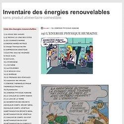 19) L'ENERGIE PHYSIQUE HUMAINE - inventaire des énergies renouvelables