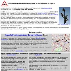 Inventaire de la vidéosurveillance en France