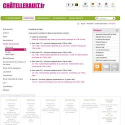 Inventaires - Ville de Chatellerault.fr