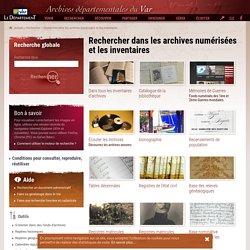 Rechercher dans les archives numérisées et les inventaires - Archives départementales du Var