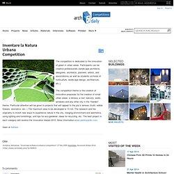 Inventare la Natura Urbana Competition