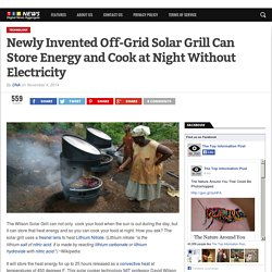 Newly Invented Off-Grid Solar Grill Can Store Energy and Cook at Night Without Electricity