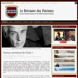 Paxton, inventeur de Vichy ?
