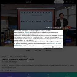 Inventez votre carnet de lecture (21 avril) - Vidéo Français