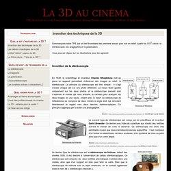 Invention des techniques de la 3D