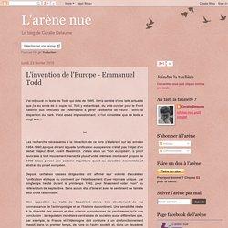 L'invention de l'Europe - Emmanuel Todd