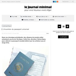 L'invention du passeport universel