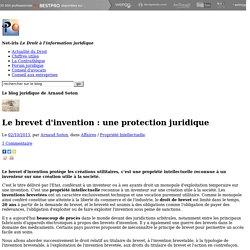 Le brevet d'invention : une protection juridique