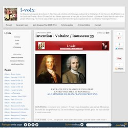 Invention - Voltaire / Rousseau 35