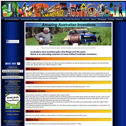 Inventions in Australia - akubra, blundstone, drizabone, backless briefs