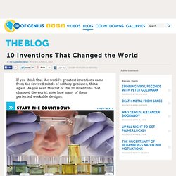 10 Inventions That Changed the World