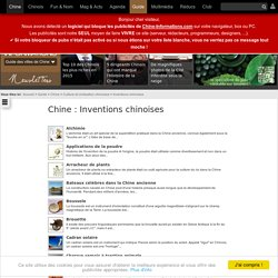 Inventions chinoises : Chine