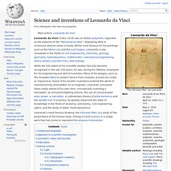Science and inventions of Leonardo da Vinci