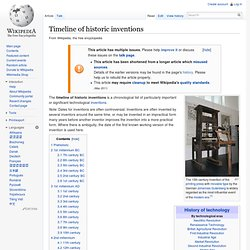 Timeline of historic inventions - Wikipedia, the free encycloped