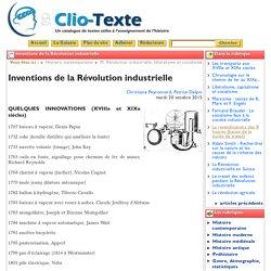 Inventions de la Révolution industrielle - Clio Texte