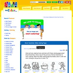 Great Inventions Online Coloring Pages