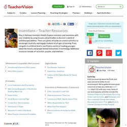 Inventions Lesson Plans, Printables, & Activities: Grades K-12