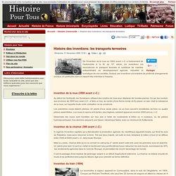 Histoire des inventions: les transports terrestres