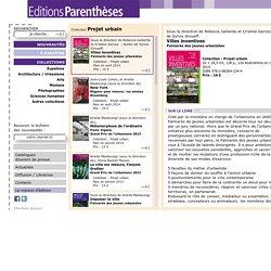 Villes inventives - Editions Parenthèses
