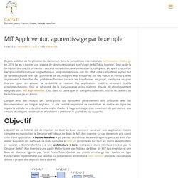 MIT App Inventor: apprentissage par l'exemple – CAYSTI