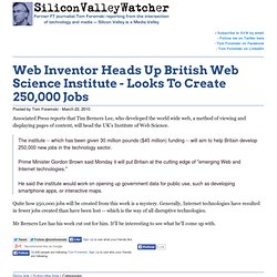 Web Inventor Heads Up British Web Science Institute - Looks To C