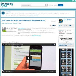 Learn to Code with App Inventor #mobilelearning