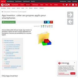 App Inventor : créer ses propres applis pour smartphones