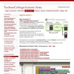 App Inventor 2 - TechnoCollegeAutant-3eme