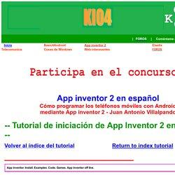 App inventor español. Offline. Tutorial. Instalación.