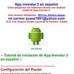 App inventor Español Tutorial programas