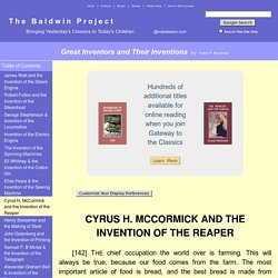 Great Inventors and Their Inventions by Frank P. Bachman