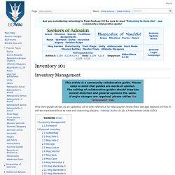 Inventory 101 - BG FFXI Wiki