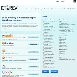 Inventory of ICT tools and OERs