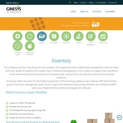 Retail Inventory Management System Software - Ginesys.in