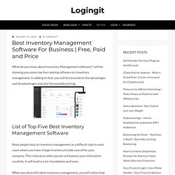 Best Inventory Management Software For Business