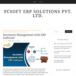 Inventory Management with ERP software