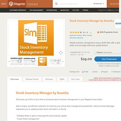 Stock Inventory Manager by Iksanika - Site Management