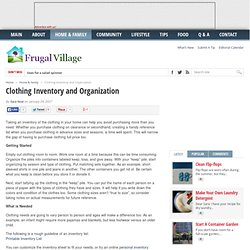 Clothing Inventory and Organization - Frugal Village | Frugal Village