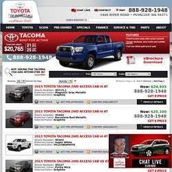 Tacoma Inventory in stock Puyallup dealer serving Renton