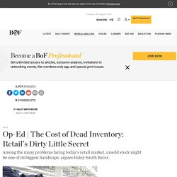 The Cost of Dead Inventory: Retail's Dirty Little Secret
