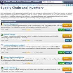 Supply-Chain Inventory