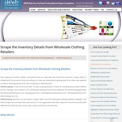 Scrape the Inventory Details from Wholesale Clothing Retailers