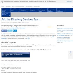 Inventorying Computers with AD PowerShell