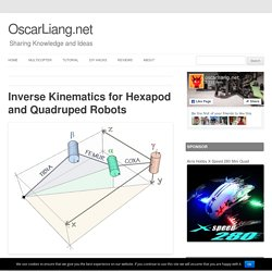 Inverse Kinematics for Hexapod and Quadruped Robots