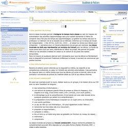Osons la classe inversée : plus-values et contraintes - Page 3/3 - Espagnol