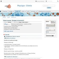 Classe inversée - Dosages en terminale S