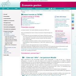 Classe inversée en TSTMG - Économie gestion