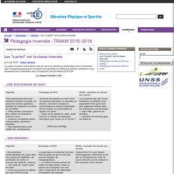 """Les """"a priori"""" sur la classe inversée - Education physique et sportive"""